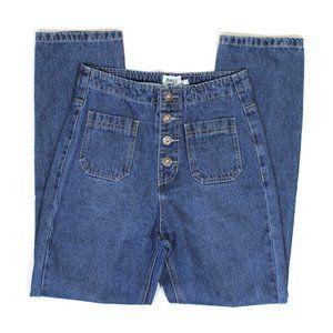 Princess Polly Jeans - Princess Polly Vela High Waist Button Fly Jeans